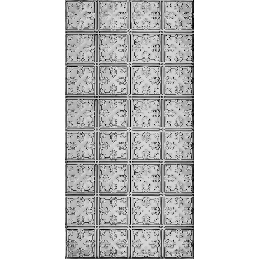 Armstrong Ceilings (Common: 48-in X 24-in; Actual: 48.5-in x 24.5-in) Metallaire Vine Lacquered Steel Metal Surface-mount Panel Ceiling Tiles