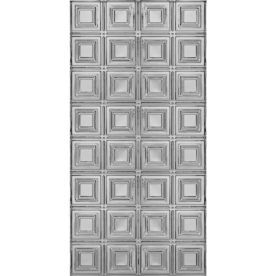 Armstrong Ceilings (Common: 48-in x 24-in; Actual: 48.5-in x 24.5-in) Metallaire Small Panels Lacquered Steel Patterned Surface-Mount Panel Ceiling Tiles