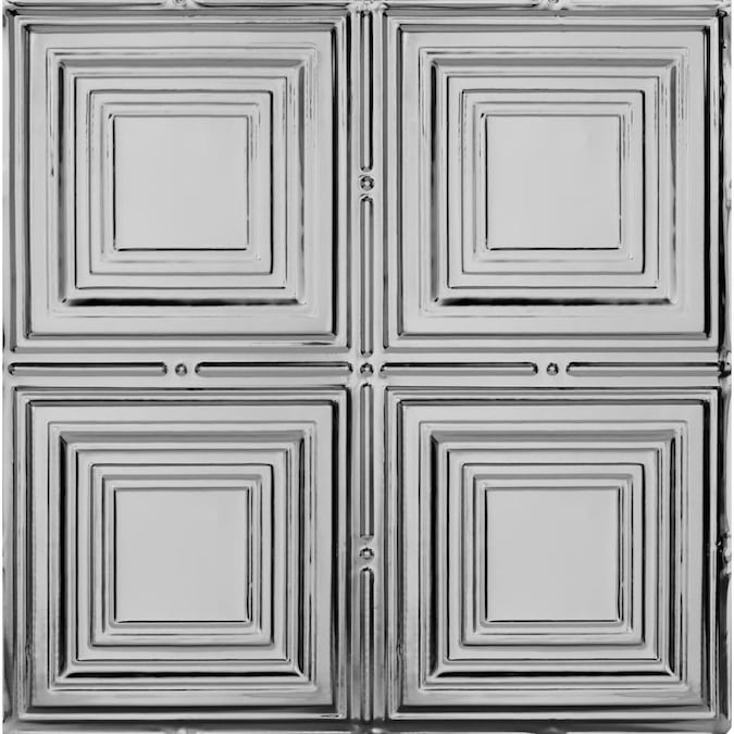 Armstrong Ceilings 24 In X 24 In Metallaire Medium Panels Lacquered Steel Metal Tin 15 16 In Drop Panel Ceiling Tiles In The Ceiling Tiles Department At Lowes Com