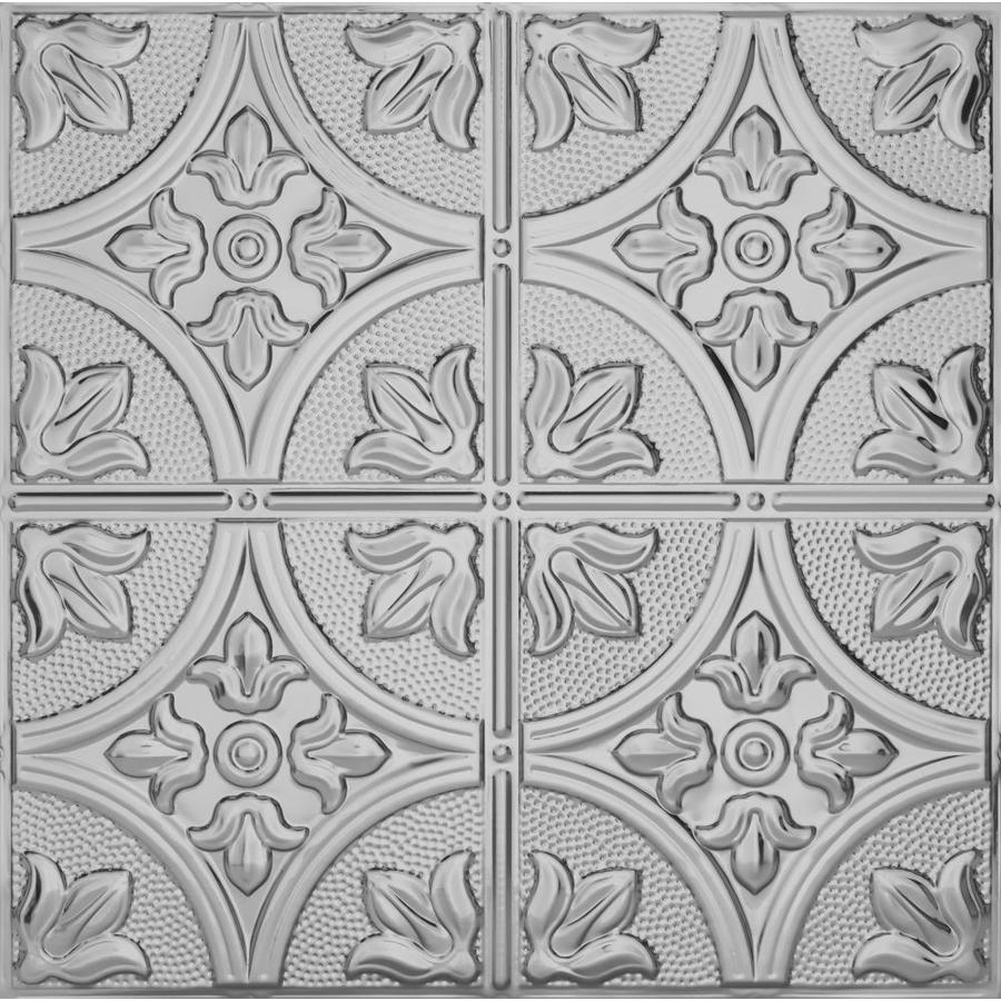 Armstrong Ceilings Metallaire Steel Patterned 15/16-in Drop Panel Ceiling Tiles (Common: 24-in x 24-in; Actual: 23.75-in x 23.75-in)