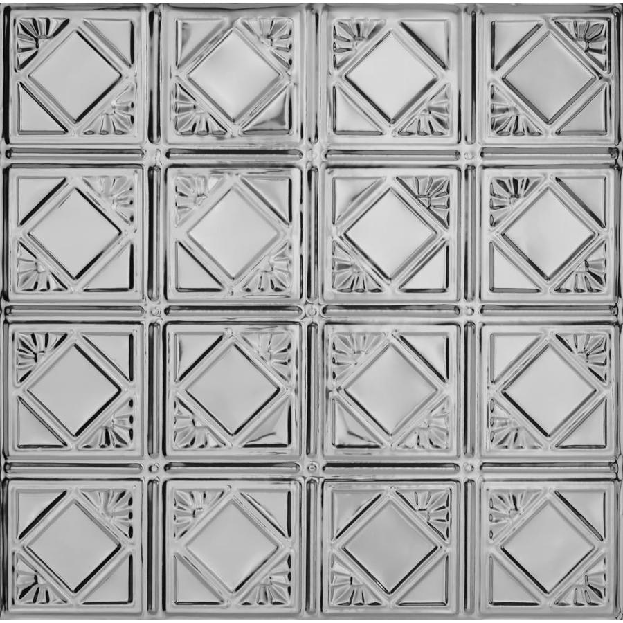 Armstrong Ceilings (Common: 24-in X 24-in; Actual: 23.75-in x 23.75-in) Metallaire Fans Lacquered Steel Metal 15/16-in Drop Panel Ceiling Tiles