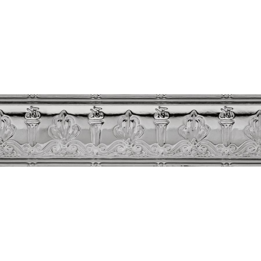 Armstrong Ceilings Metallaire Torch 4-ft Lacquered Steel Metal Metallic Crown Ceiling Grid Trim
