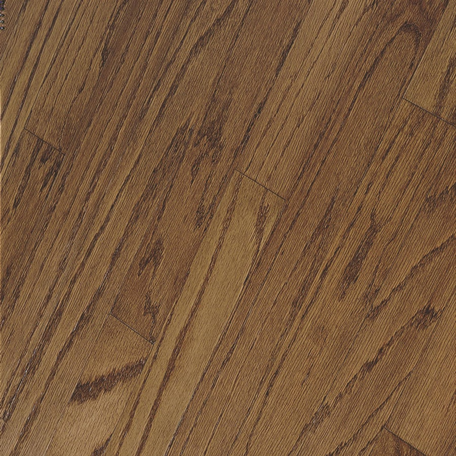 Shop bruce springdale plank prefinished mellow engineered for Engineered oak flooring