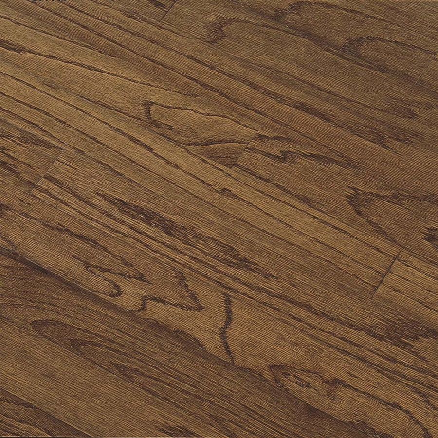 Shop bruce springdale plank in saddle oak engineered for Bruce hardwood flooring