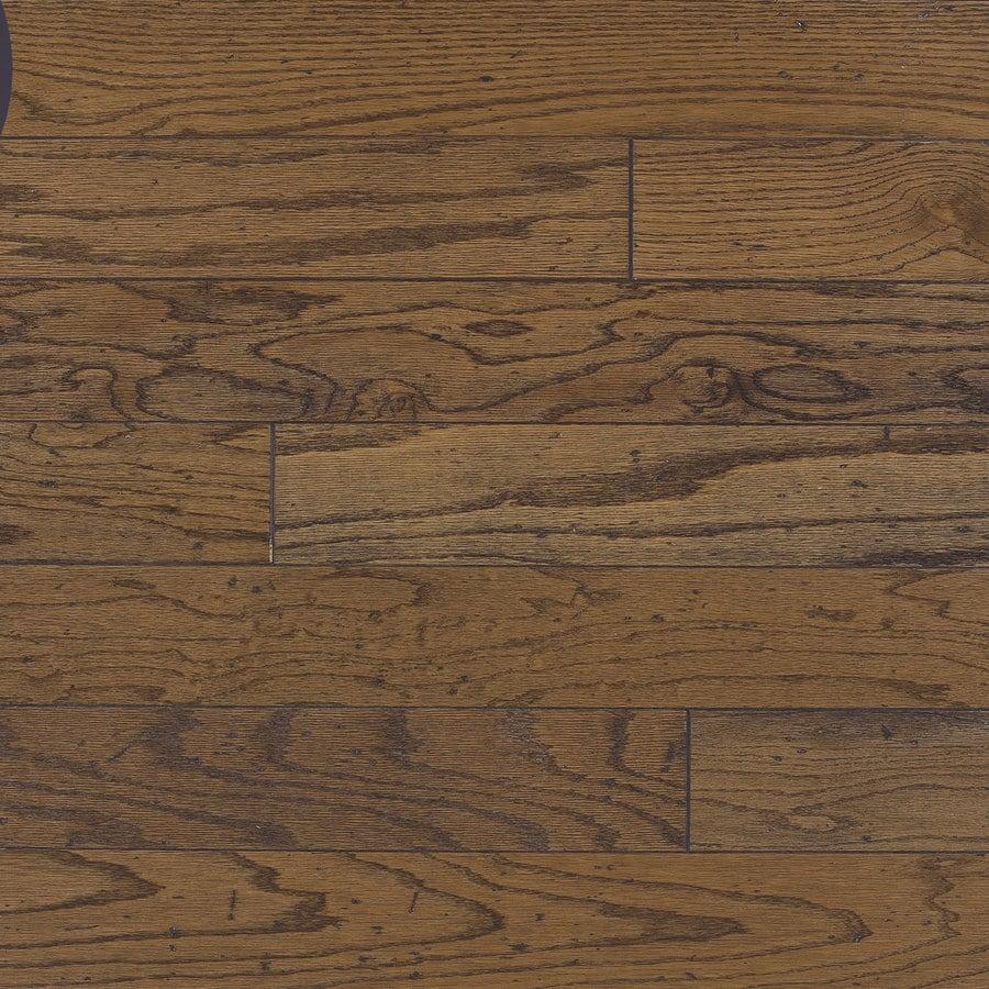Shop bruce baltic plank 5 in w prefinished oak engineered for Prefinished oak flooring