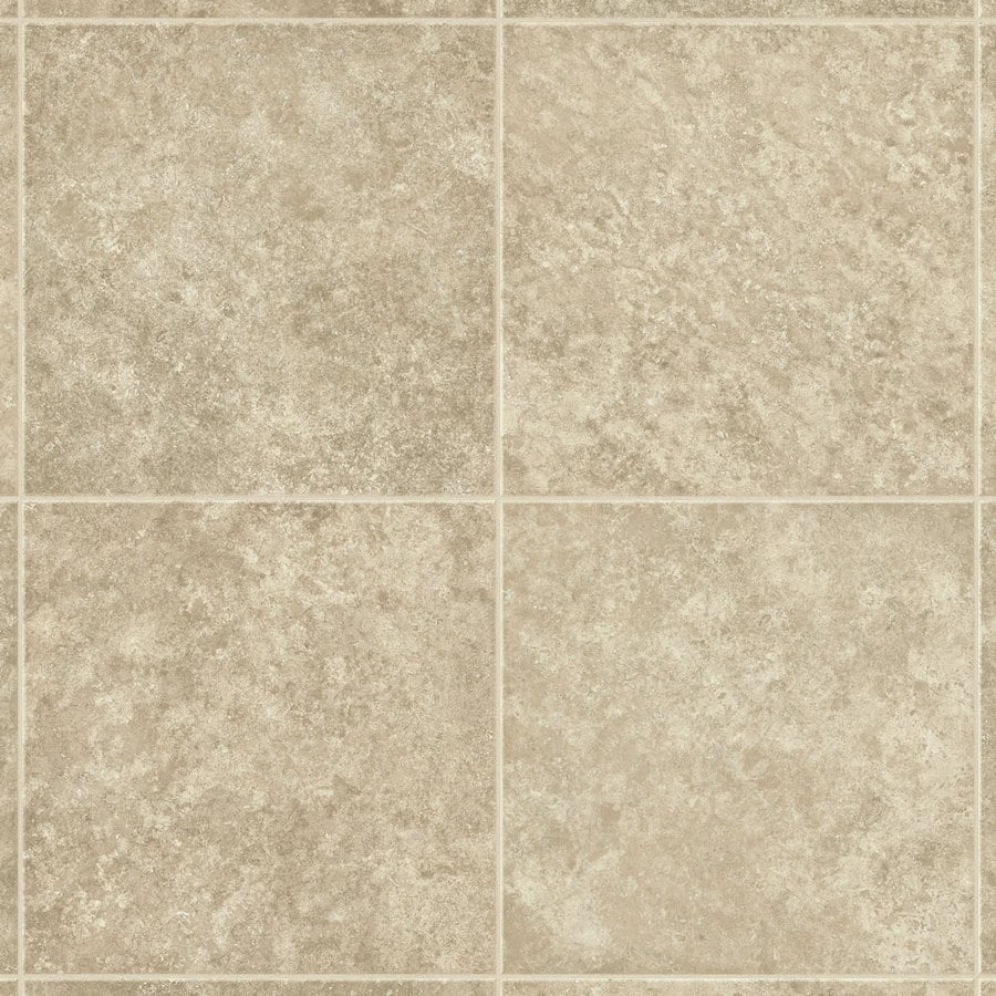 Shop armstrong flooring proedge 12 ft w cream stone low for Sheet vinyl flooring