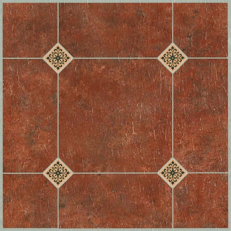 Style Selections 1-Piece 12-in x 12-in Adobe Peel-And-Stick Pattern Vinyl Tile