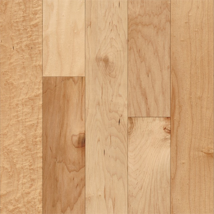 Shop style selections 5 in prefinished country natural for Maple flooring