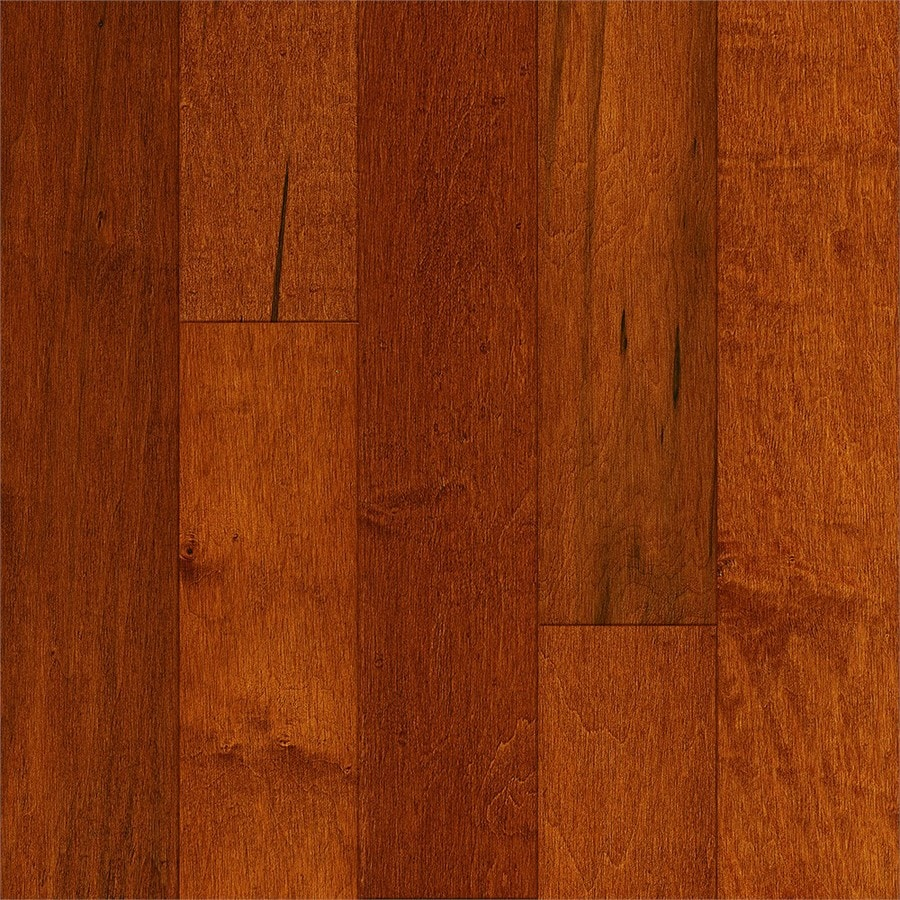 shop style selections 5-in prefinished cinnamon engineered maple
