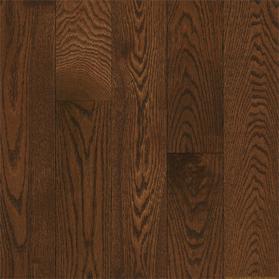 Shop bruce america 39 s best choice 5 in saddle solid oak for Real oak hardwood flooring