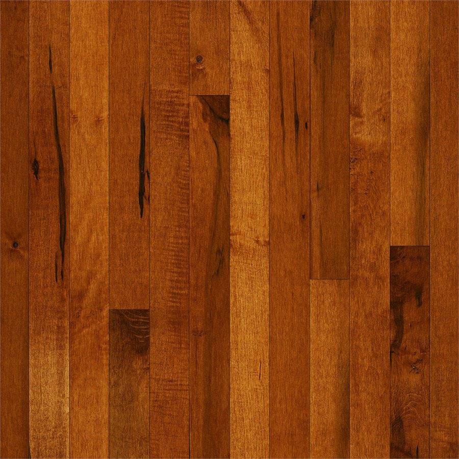 Shop bruce frisco cinnamon maple solid hardwood for Solid hardwood flooring