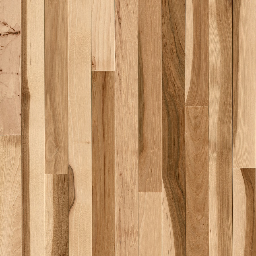 Shop bruce frisco country natural hickory solid for Solid hardwood flooring