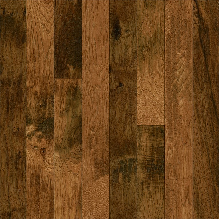 Shop bruce hickory hardwood flooring sample yukon gold for Parquet hardwood flooring