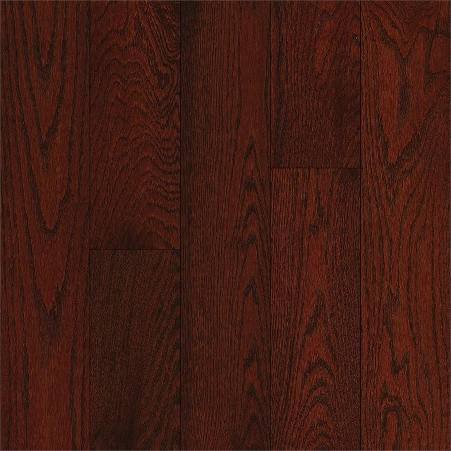 Shop bruce oak hardwood flooring sample cherry at for Cherry laminate flooring