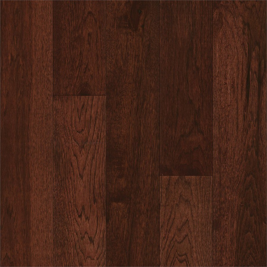 Shop bruce hickory hardwood flooring sample amber earth for Bruce hardwood flooring