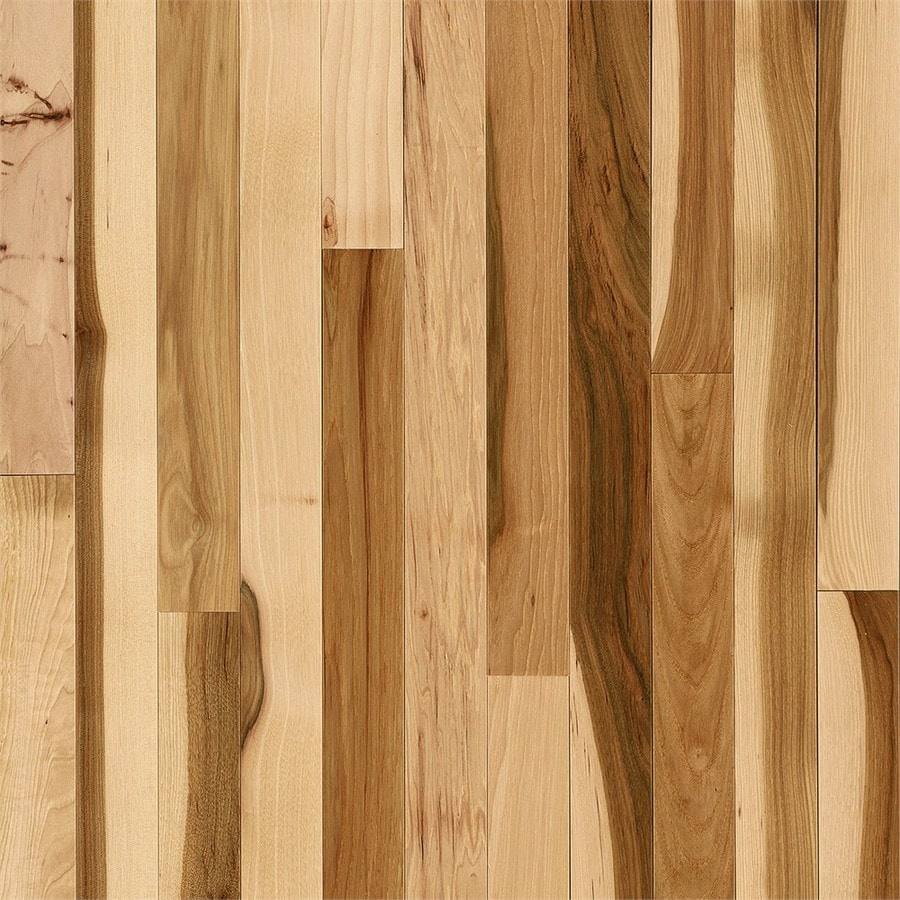 Shop bruce hickory hardwood flooring sample country for Wood flooring natural