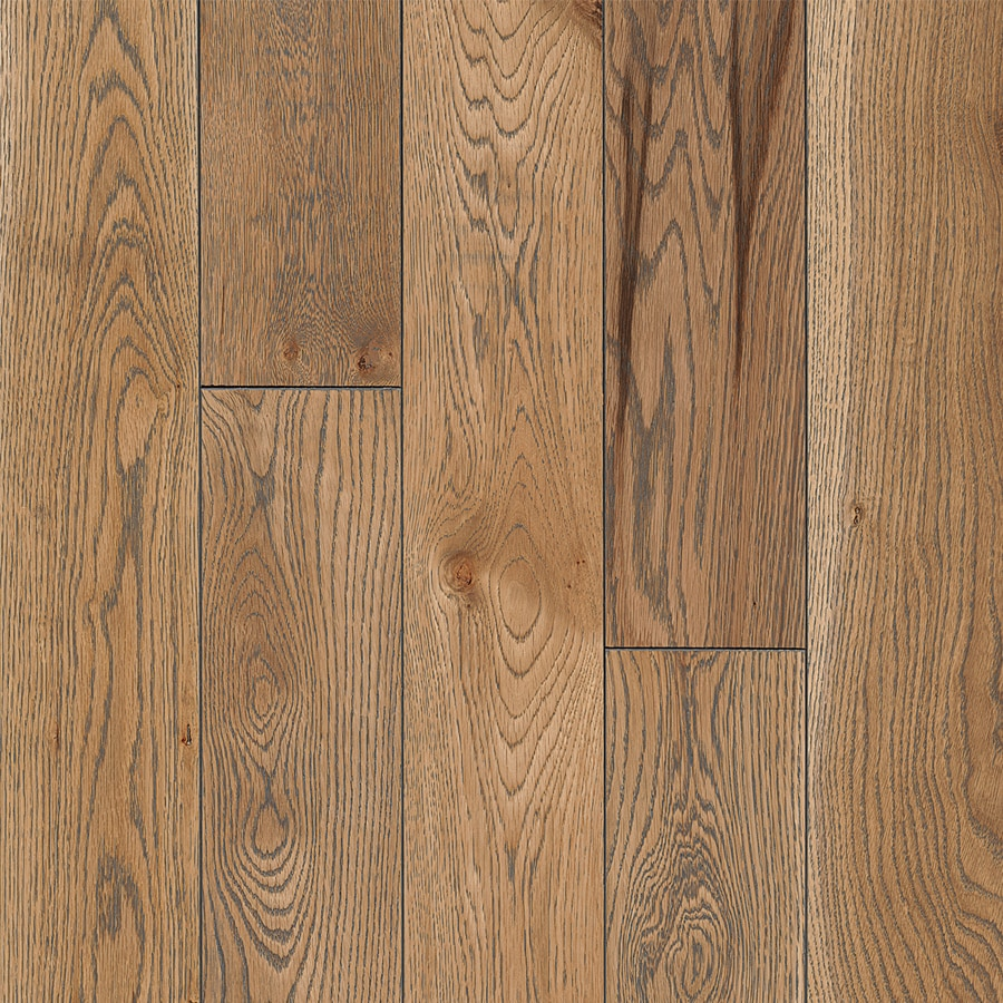Shop bruce america 39 s best choice 5 in naturally gray oak for Solid oak wood flooring