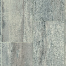 Armstrong Flooring Pickwick Landing III 12-ft W x Cut-to-Length Shale Gray Tile Low-Gloss Finish Sheet Vinyl