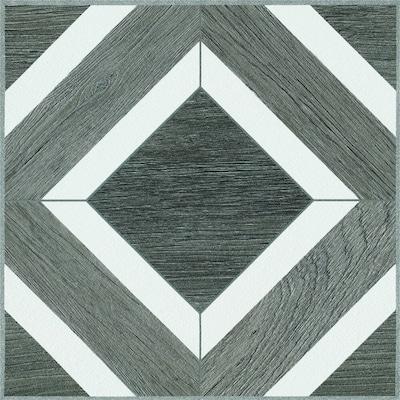 Terraza 1 Piece 12 In X 12 In Harbor Gray Peel And Stick Vinyl Tile