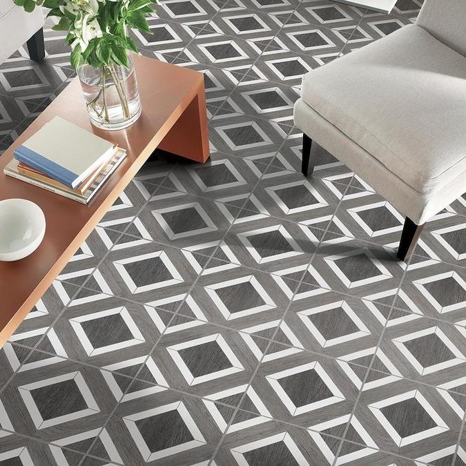Harbor Gray L And Stick Vinyl Tile
