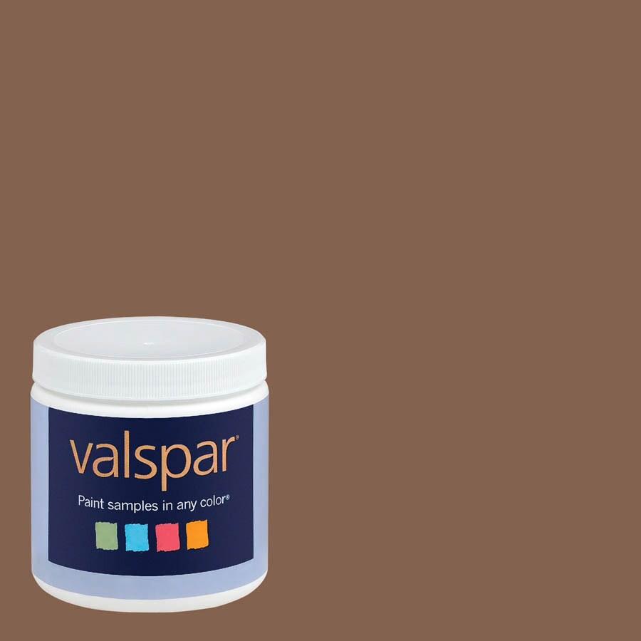 Valspar 8-oz Chocolate Turtle Interior Satin Paint Sample