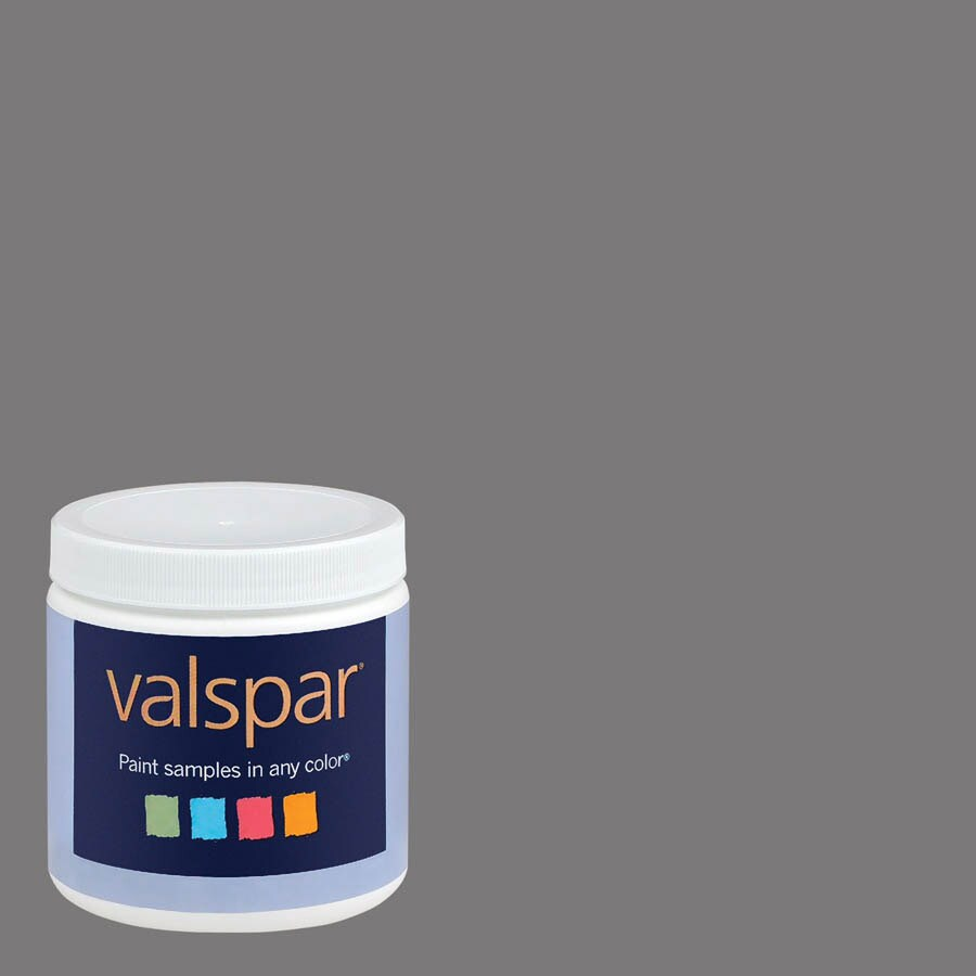 Valspar 8-oz Almost Charcoal Interior Satin Paint Sample