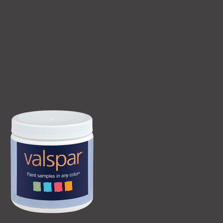 Valspar 8-oz Dark Kettle Black Interior Satin Paint Sample