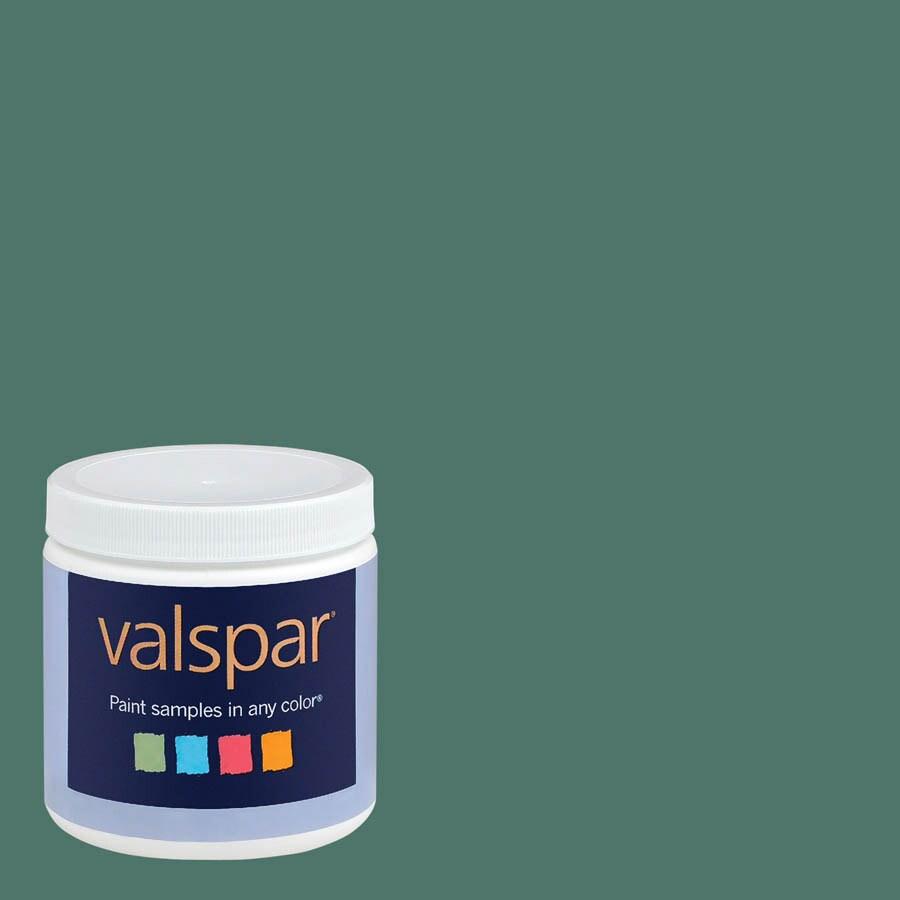 Valspar 8-oz Fairmont Penthouse Mosaic Green Interior Satin Paint Sample
