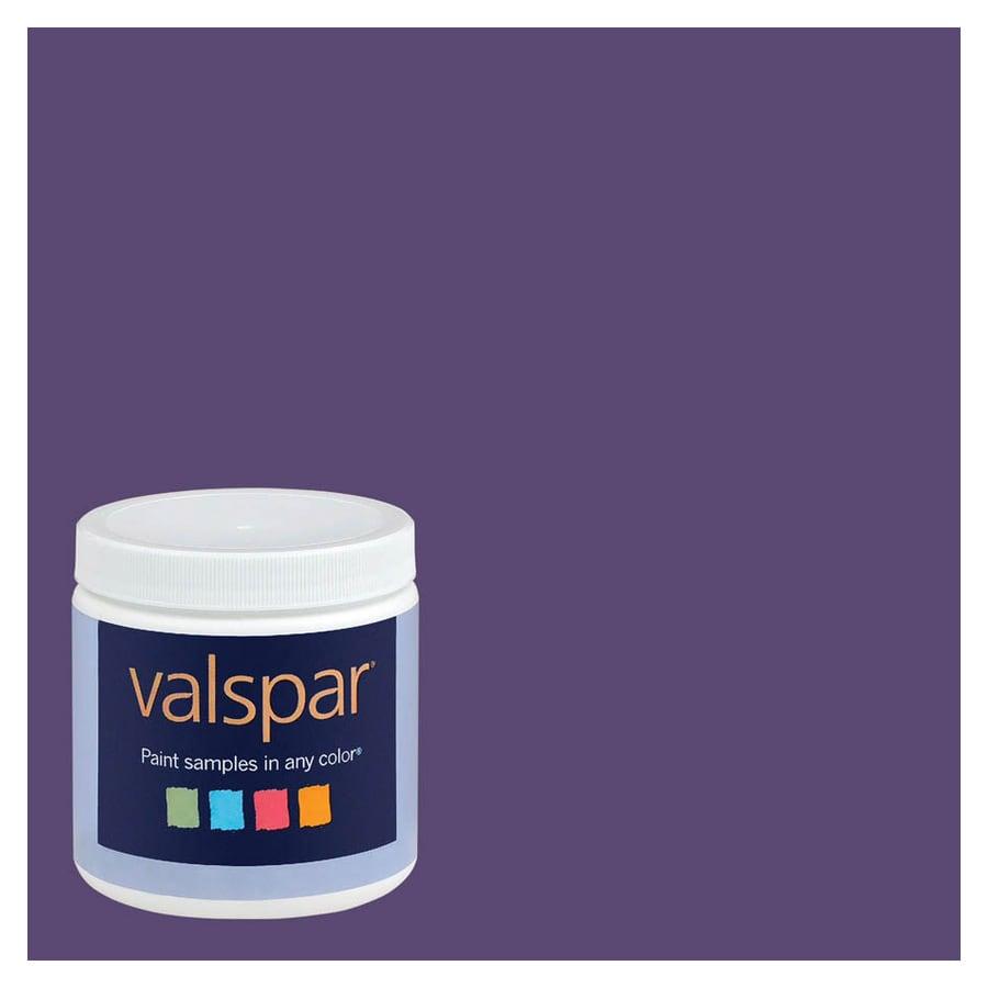 Shop Valspar 8 Oz Sumptuous Purple Interior Satin Paint Sample At Lowes Com
