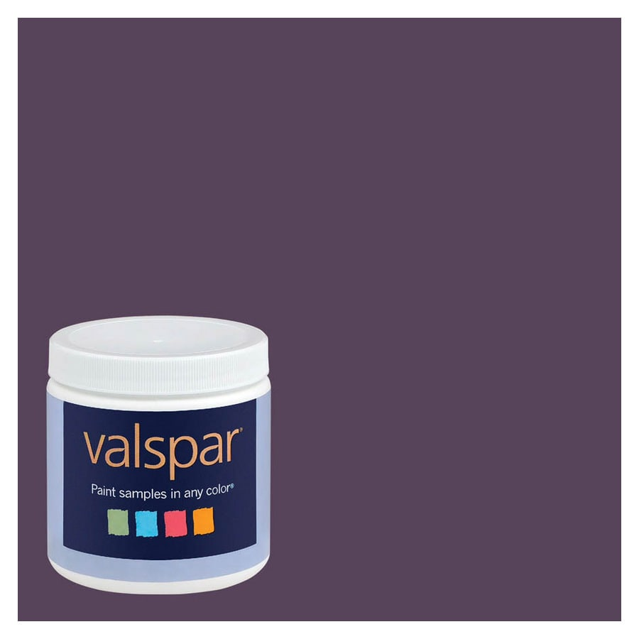 Valspar 8-oz Plum Good Interior Satin Paint Sample