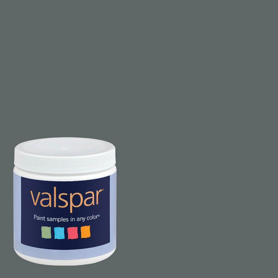 Valspar 8-oz Graphite Interior Satin Paint Sample