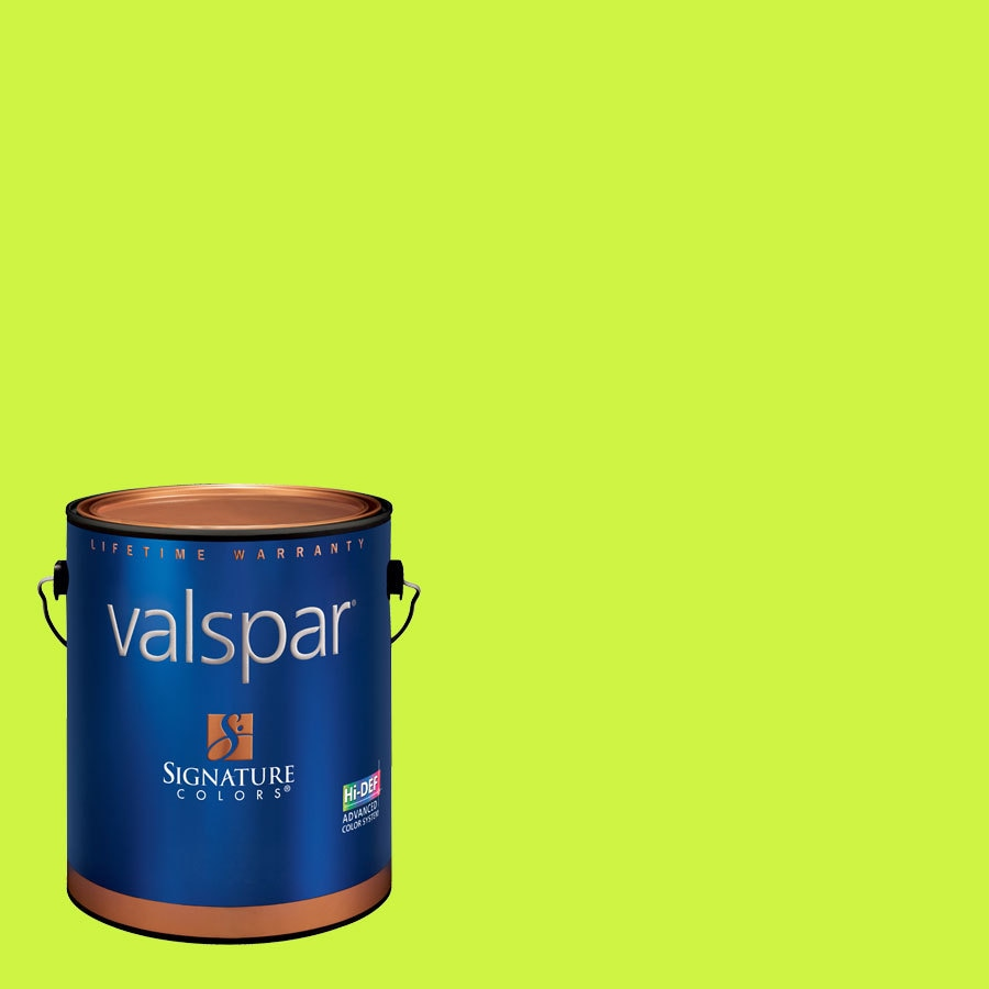 Creative Ideas for Color by Valspar 1-Gallon Interior Matte Twist Of Lime Latex-Base Paint and Primer in One
