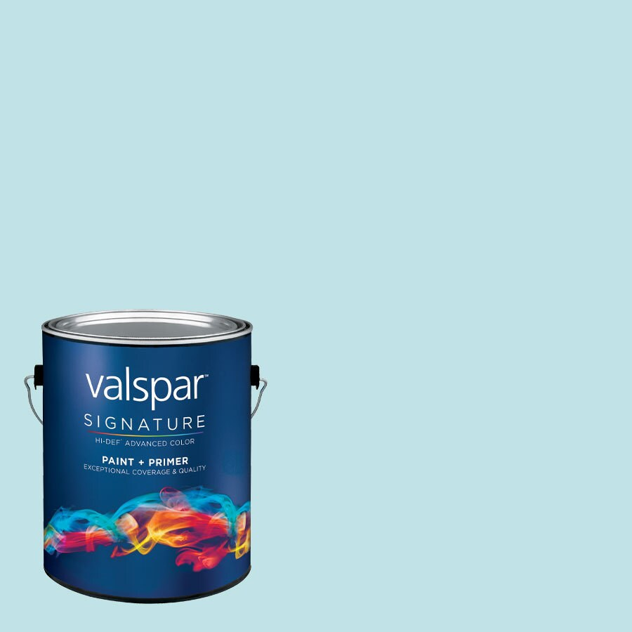 Creative Ideas for Color by Valspar Gallon Size Container Interior Eggshell Pre-Tinted Inhale Latex-Base Paint and Primer in One (Actual Net Contents: 128.82-fl oz)