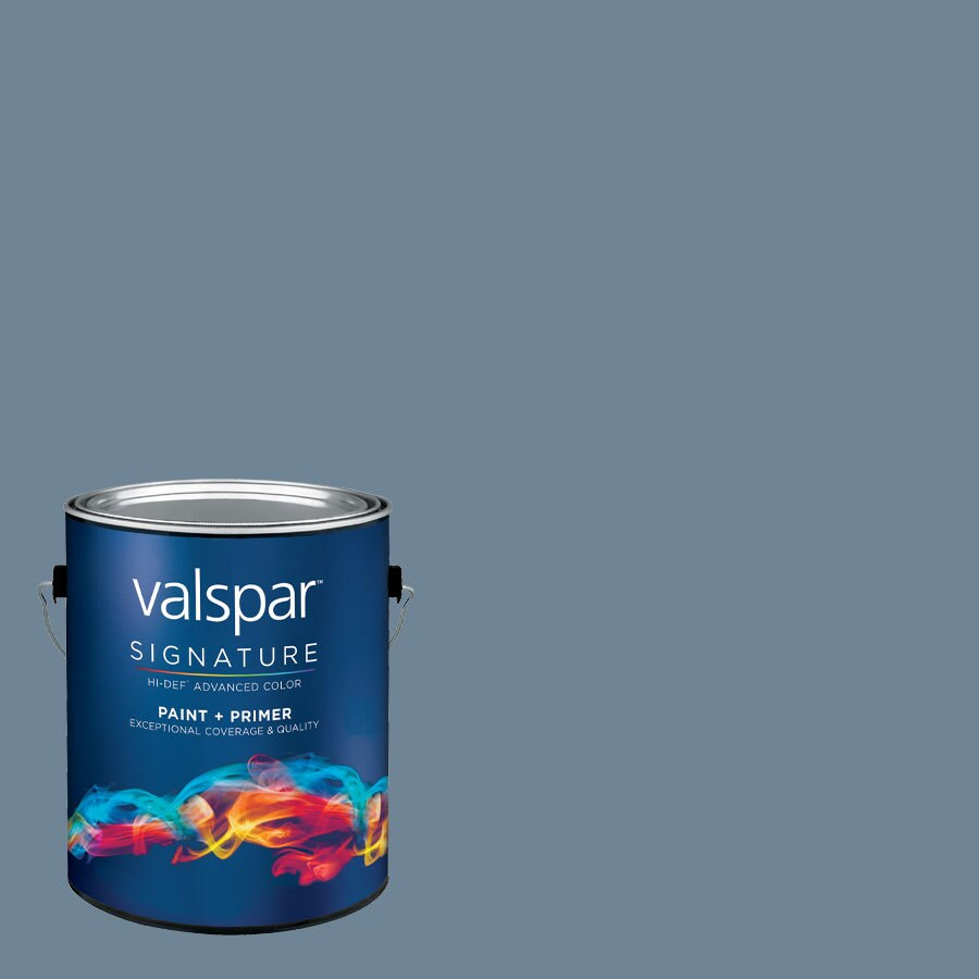 Creative Ideas for Color by Valspar Gallon Size Container Interior Satin Pre-Tinted Midnight Fog Latex-Base Paint and Primer in One (Actual Net Contents: 128.29-fl oz)