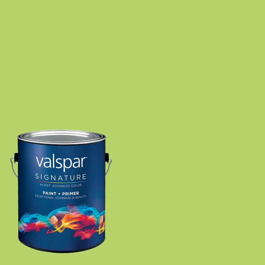 Creative Ideas for Color by Valspar Gallon Size Container Interior Semi-Gloss Pre-Tinted 3 Olive Martini Latex-Base Paint and Primer in One (Actual Net Contents: 127.13-fl oz)