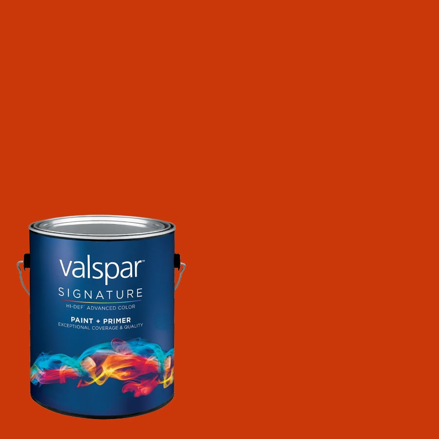 Creative Ideas for Color by Valspar Gallon Size Container Interior Semi-Gloss Pre-Tinted Fireside Latex-Base Paint and Primer in One (Actual Net Contents: 126.35-fl oz)