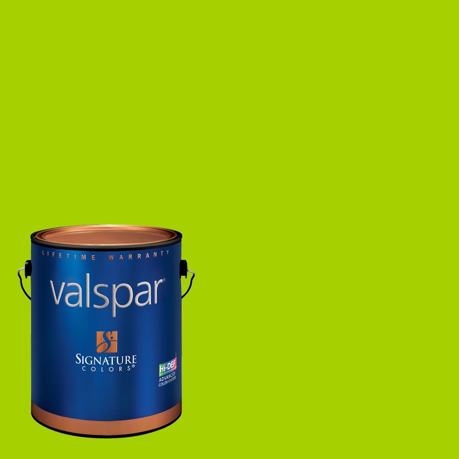 Creative Ideas for Color by Valspar Gallon Size Container Interior Semi-Gloss Pre-Tinted Kiwi Splash Latex-Base Paint and Primer in One (Actual Net Contents: 127.86-fl oz)