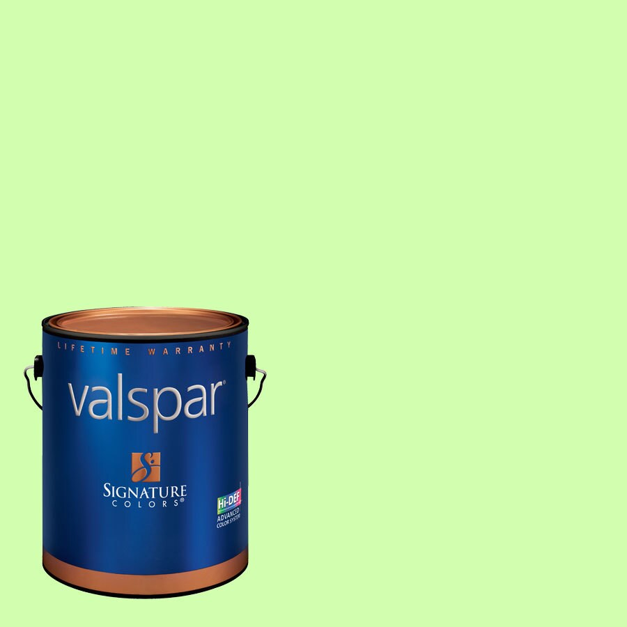 Creative Ideas for Color by Valspar Gallon Size Container Interior Semi-Gloss Pre-Tinted Minty Latex-Base Paint and Primer in One (Actual Net Contents: 127.93-fl oz)