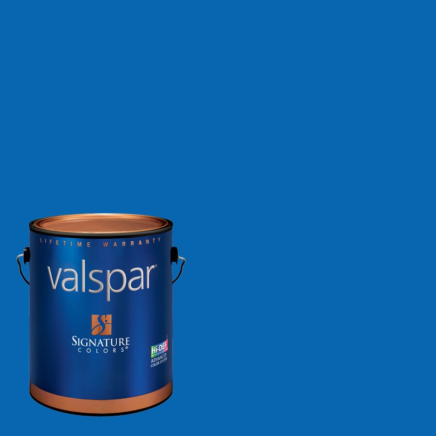 Creative Ideas for Color by Valspar Gallon Size Container Interior Semi-Gloss Pre-Tinted Sky Dive Blue Latex-Base Paint and Primer in One (Actual Net Contents: 120.3-fl oz)