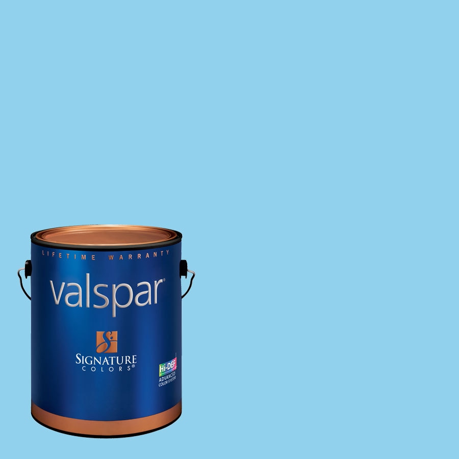 Creative Ideas for Color by Valspar Gallon Size Container Interior Semi-Gloss Pre-Tinted Surfer Waves Latex-Base Paint and Primer in One (Actual Net Contents: 127.28-fl oz)