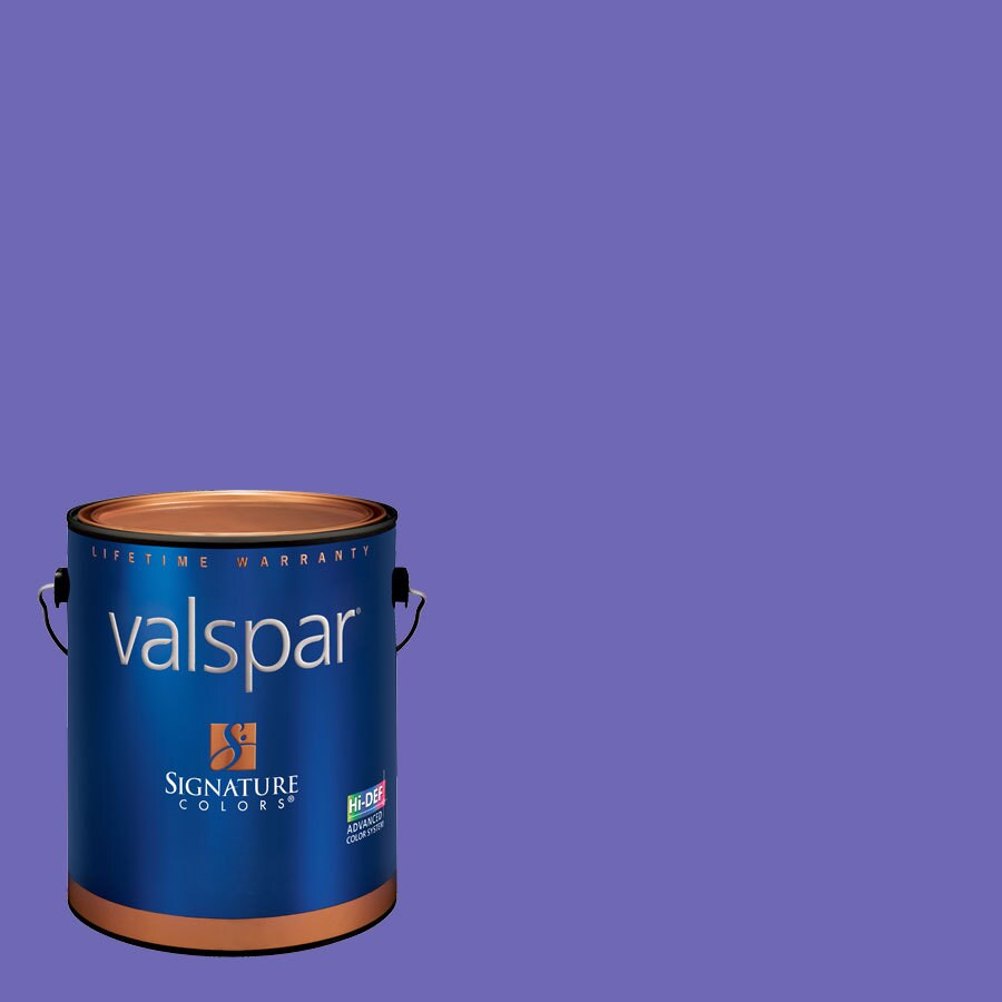 Creative Ideas for Color by Valspar Gallon Size Container Interior Semi-Gloss Pre-Tinted Purpleberry Latex-Base Paint and Primer in One (Actual Net Contents: 128.17-fl oz)