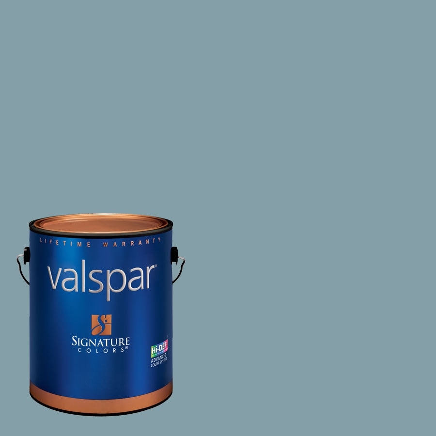 Creative Ideas for Color by Valspar 1-Gallon Interior Eggshell Stormy Cove Latex-Base Paint and Primer in One
