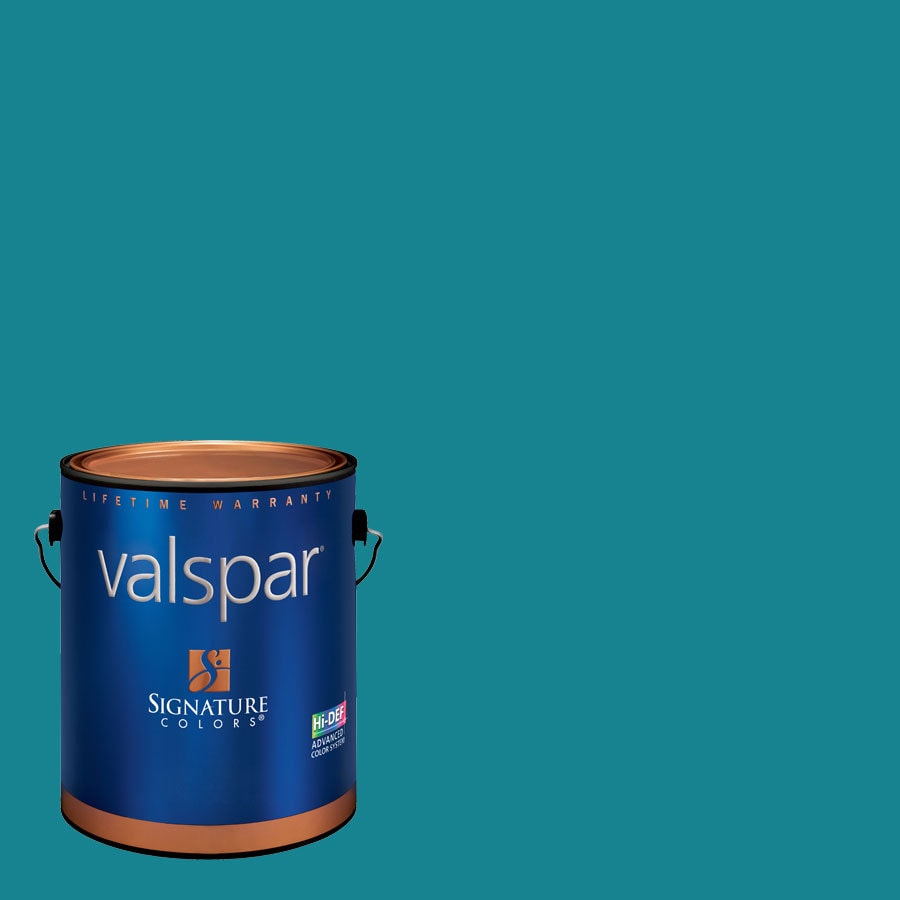 Creative Ideas for Color by Valspar Gallon Size Container Interior Eggshell Pre-Tinted Hang Ten Latex-Base Paint and Primer in One (Actual Net Contents: 127.8-fl oz)