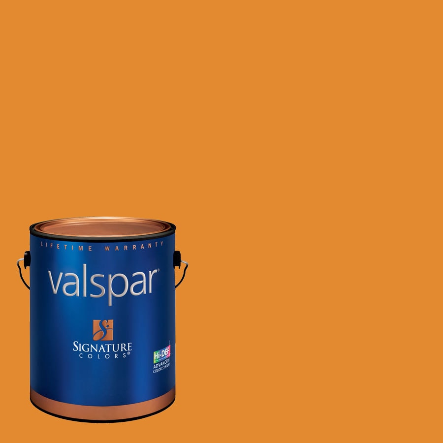 Creative Ideas for Color by Valspar Gallon Size Container Interior Satin Pre-Tinted Golden Sunset Latex-Base Paint and Primer in One (Actual Net Contents: 128.77-fl oz)