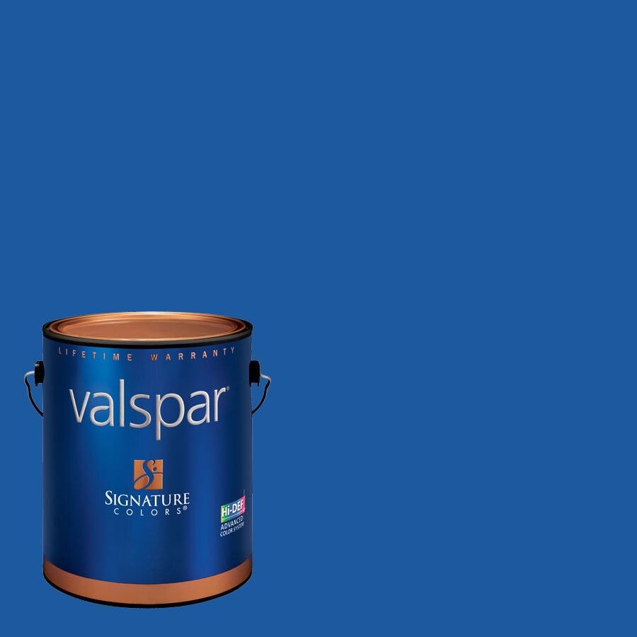 Creative Ideas for Color by Valspar Gallon Size Container Interior Satin Pre-Tinted Blue Ribbon Latex-Base Paint and Primer in One (Actual Net Contents: 122.22-fl oz)