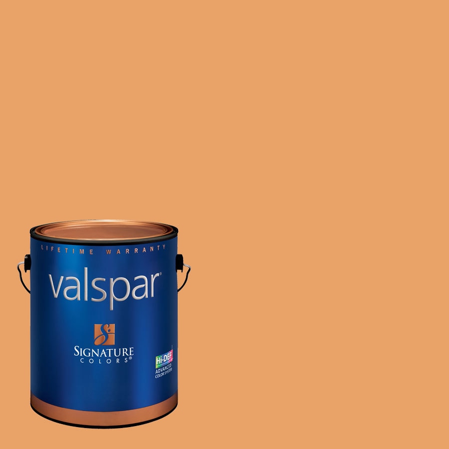 Creative Ideas for Color by Valspar 1-Gallon Interior Semi-Gloss Peach Preserves Latex-Base Paint and Primer in One