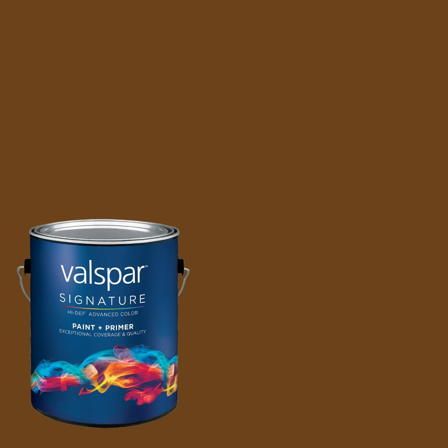 allen + roth Colors by Valspar Gallon Size Container Interior Eggshell Pre-Tinted Barista Latex-Base Paint and Primer in One (Actual Net Contents: 127.01-fl oz)