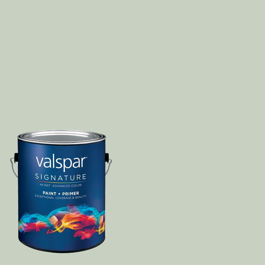 allen + roth Colors by Valspar Gallon Size Container Interior Eggshell Pre-Tinted Foggy Mist Latex-Base Paint and Primer in One (Actual Net Contents: 127-fl oz)