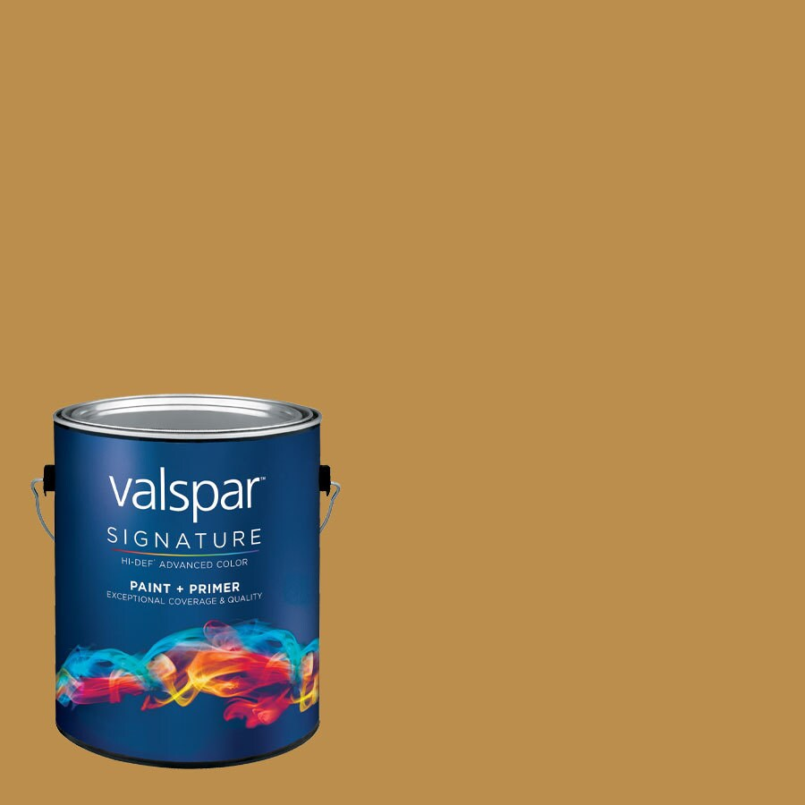 allen + roth Colors by Valspar Gallon Size Container Interior Satin Pre-Tinted Soft Pretzel Latex-Base Paint and Primer in One (Actual Net Contents: 126.85-fl oz)