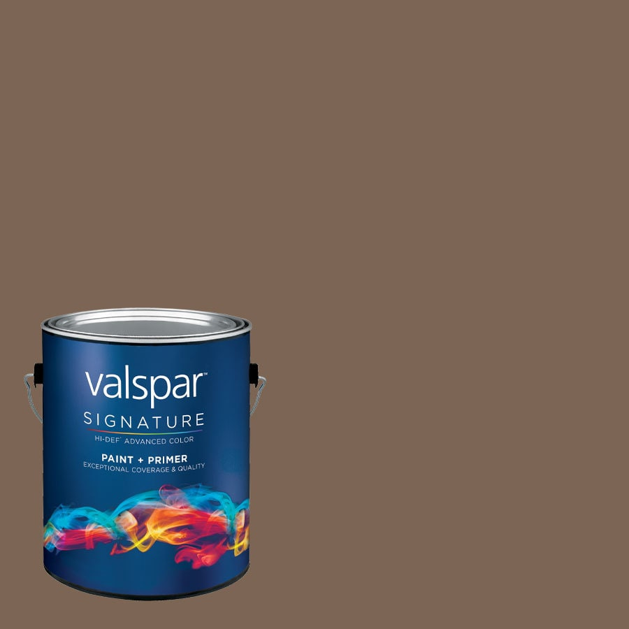 allen + roth Colors by Valspar Gallon Size Container Interior Semi-Gloss Pre-Tinted Limousine Latex-Base Paint and Primer in One (Actual Net Contents: 127.62-fl oz)